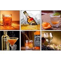 10 Am Alcohol Coasters (set Of 6- Sunboard)