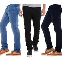 Stylox Pack Of 3 Black  Blue Mid Rise Jeans For Mens