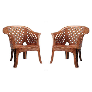 Nilkamal Sofa Chair Set of 02 (Pear Wood) By Homegenic