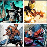 10 Am Superhero Coasters (set Of 4 - Sunboard)