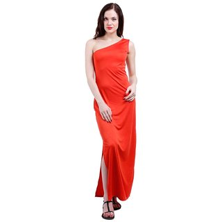 54d0236ecd4 Red One Shoulder Dress available at ShopClues for Rs.379