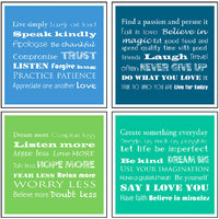 10 Am Inspiration Coasters (set Of 4 - Sunboard)