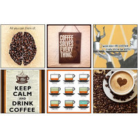 10 Am Coffee Coasters (set Of 6 - Acrylic)