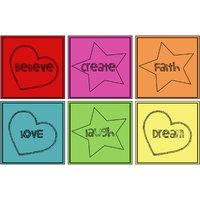 10 Am Words Coasters (set Of 6 - Acrylic)
