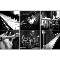 10 Am Music Instruments Coasters (set Of 6 - Acrylic)