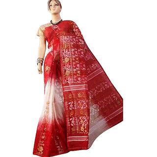 Red Jamdani Sarees