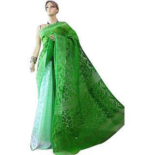 Green Jamdani Sarees