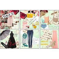 10 Am Fashion Coasters (set Of 6 - Acrylic)