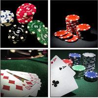 10 Am Poker Coasters (set Of 4 - Acrylic)
