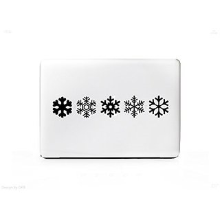 Snowflake Types Sticker Decal For MacBook Pro  PC  Laptop  Window  Car  or Wall