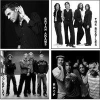 10 Am Bands Coasters (set Of 4 - Acrylic)