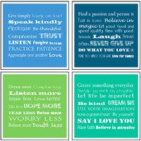 10 Am Inspiration Coasters (set Of 4 - Acrylic)