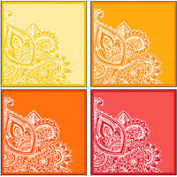 10 Am Paisley Coasters (set Of 4 - Acrylic)