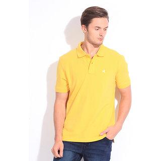 100% Cotton Men's T-Shirt Yellow