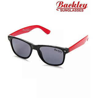 Backley BS-1924 Black RED Wayfarer Unisex Sunglasses