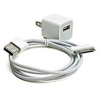 Mini USB Power Adapter/Charger With USB Data + Charging Cable For IPhone 45