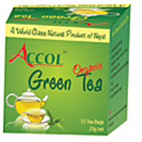 Nepal No. 1 Brand ACCOL Organic Green Tea Leaf 50 Gm