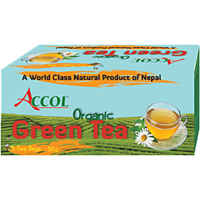 Nepal No. 1 Brand ACCOL Organic Green Tea Bag 50 Gm