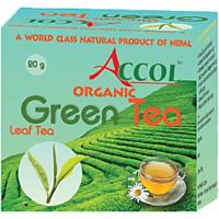 Nepal No. 1 Brand ACCOL Organic Green Tea Leaf 20 Gm