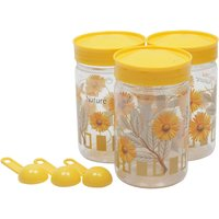 Retro Max Containers 500 Ml Set Of 3 Yellow