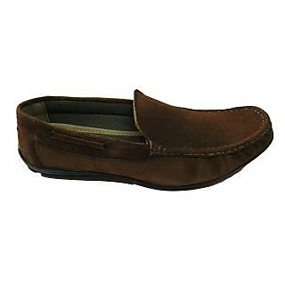 Zuari Branded Casual Leather Loafers Brown