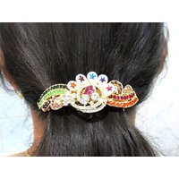 Multicolour Stone Star Hair Clip