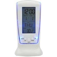 Square 510 Digital Alarm Temperature Calender Table Clock