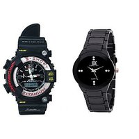 IIk Black and G-Shock Combo of 2 Stylish Anolog Watches for Mens by  miss