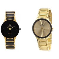 iik Collection Combo of 2 Stylish Anolog Watches for Men By miss