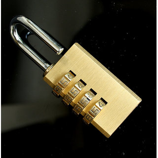 iDeals 4 Digit Bag Travel Coded Lock Resettable Password Lock Combination Padlock