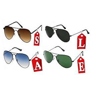 Aviator Sunglasses Maha Sale Offer With Black,brown,blue,green Color