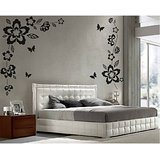 Dream On Walls Decal- Floral Butterfly Wall Sticker
