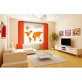 Dream On Walls Decal- Map With Compass And Aeroplane Wall Sticker