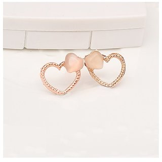 Stylish Double Love Soulmate Stud Earring