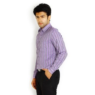 Solemio Purple Formal Slim Fit Lining Shirt 1042 PU