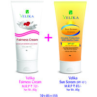 Velika Sun Screen & Fairness Cream Combo