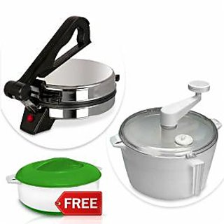 Kitchen Pro Roti Maker with Atta Maker  Casserole available at ShopClues for Rs.1349