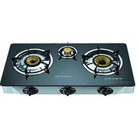 Branded Automatice Glass Top 3 Burner Gas Stove
