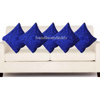 Sweet Home Pack Of 5 Designer Tissue Cushion Cover 16x16 Inch - Blue