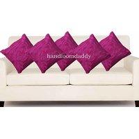 Sweet Home Pack Of 5 Designer Tissue Cushion Cover 16x16 Inch - Merzanta
