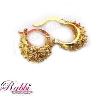 Small &Cute Bentex Gold Plated Basket Design Earrings