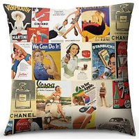 Vintage Ads Cushion
