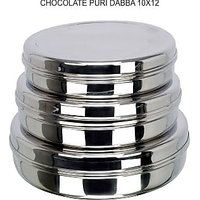 Grish Stainless Steel CHOCOLATE DABBA - Set Of 3