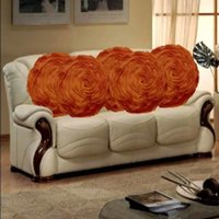 Sweet Home Pack Of 5 Round Design Tissue Cushion Cover - Rust