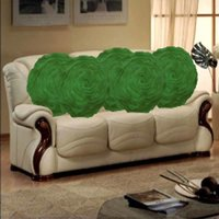 Sweet Home Pack Of 5 Round Design Tissue Cushion Cover - Green