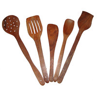 Wooden Skimmer (Set Of 5)  for camping ,picnic (travel)