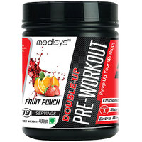 Medisys Double-UP Pre-Workout Fruit Punch 400gm