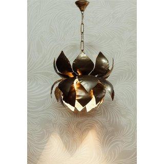 Fos Lighting Gold Flakes Lotus Hanging Pendant Light