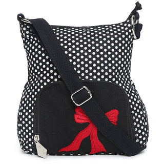 Black Polka dot sling bag