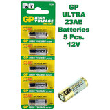 23A GP Battery 5 Pieces Pack. 12V Alkaline Battery.